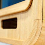 Close up detail of carved oak Luxury Photo Booth